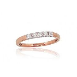 """Zelta gredzens ar briljantiem """"Zelta Mīlestība X"""" no 585 proves sarkanā zelta"""