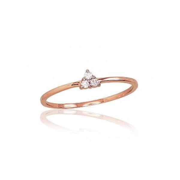 """Zelta gredzens ar briljantiem """"Triniti"""" no 585 proves sarkanā zelta"""