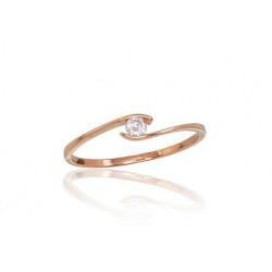 """Zelta gredzens ar topāzu """"Komēta IV"""" no 585 proves sarkanā zelta"""