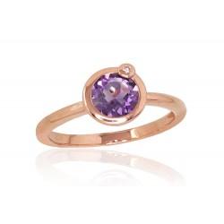 "Zelta gredzens ar briljantiem ""Garmiona"" no 585 proves sarkanā zelta"