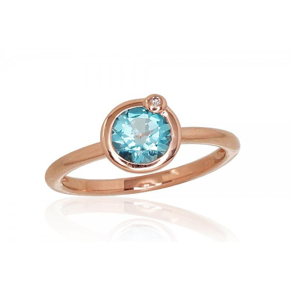 "Zelta gredzens ar briljantiem ""Garmiona II"" no 585 proves sarkanā zelta"