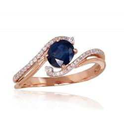 """Zelta gredzens ar briljantiem """"Komēta XI"""" no 585 proves sarkanā zelta"""