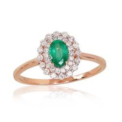 """Zelta gredzens ar briljantiem """"Romantika III"""" no 585 proves sarkanā zelta"""