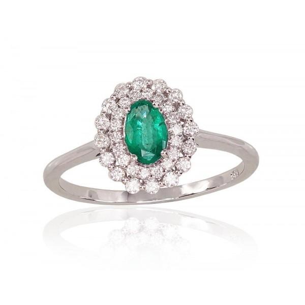 """Zelta gredzens ar briljantu """"Romantika IV"""" no 585 proves baltā zelta"""