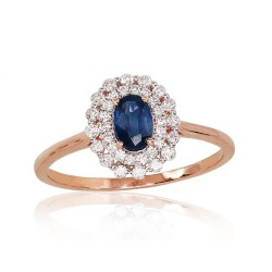 """Zelta gredzens ar briljantiem """"Romantika II"""" no 585 proves sarkanā zelta"""