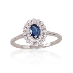 """Zelta gredzens ar briljantu """"Romantika V"""" no 585 proves baltā zelta"""