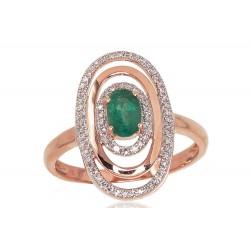 "Zelta gredzens ar briljantiem ""Emma II"" no 585 proves sarkanā zelta"