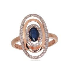 "Zelta gredzens ar briljantiem ""Emma"" no 585 proves sarkanā zelta"