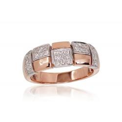 "Zelta gredzens ar briljantiem ""Otton"" no 585 proves sarkanā zelta"