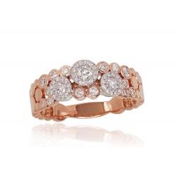 "Zelta gredzens ar briljantiem ""Galaktika"" no 585 proves sarkanā zelta"