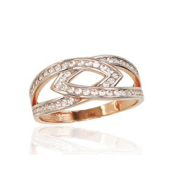 """Zelta gredzens """"Artemīda"""" no 585 proves sarkanā zelta"""