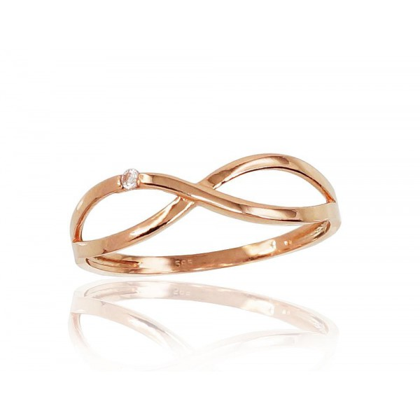 """Zelta gredzens """"Bezgalība IV"""" no 585 proves sarkanā zelta"""