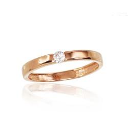 """Zelta gredzens """"Jaunā Klasika IX"""" no 585 proves sarkanā zelta"""