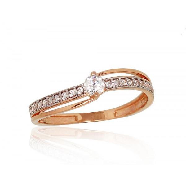 """Zelta gredzens """"Komēta V"""" no 585 proves sarkanā zelta"""