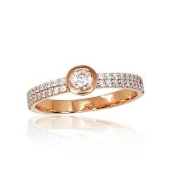 """Zelta gredzens """"Honsu"""" no 585 proves sarkanā zelta"""