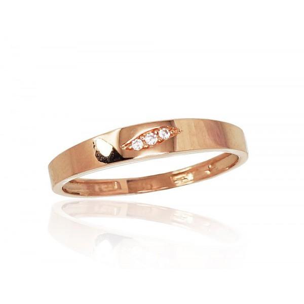 """Zelta gredzens """"Tokija XXIII"""" no 585 proves sarkanā zelta"""