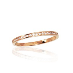 """Zelta gredzens """"Tokija XXV"""" no 585 proves sarkanā zelta"""