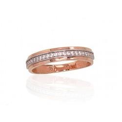 """Zelta gredzens ar briljantiem """"Ilifia IV"""" no 585 proves sarkanā zelta"""