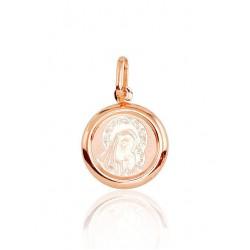 """Zelta kulons-ikona """"Svētā Jaunava Marija III"""" no 585 proves sarkanā zelta"""