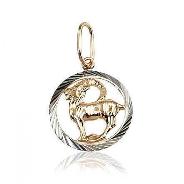 """Zelta kulons - zodiaka zīme """"Mežāzis II"""" no 585 proves sarkanā zelta"""