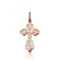 """Zelta pareizticīgo krustiņš """"Jēzus Krustā Sišana III"""" no 585 proves sarkanā zelta"""