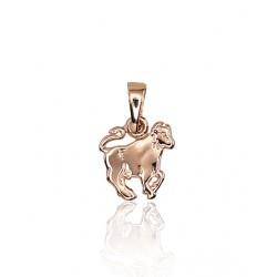 """Zelta kulons - zodiaka zīme """"Vērsis III"""" no 585 proves sarkanā zelta"""