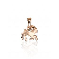 """Zelta kulons - zodiaka zīme """"Auns VI"""" no 585 proves sarkanā zelta"""