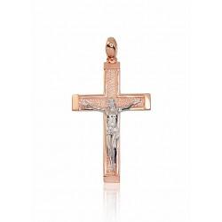 """Zelta krustiņš """"Jēzus Krustā Sišana XII"""" no 585 proves sarkanā zelta"""