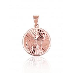 """Zelta kulons - zodiaka zīme """"Auns V"""" no 585 proves sarkanā zelta"""
