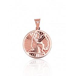 """Zelta kulons - zodiaka zīme """"Ūdensvīrs III"""" no 585 proves sarkanā zelta"""