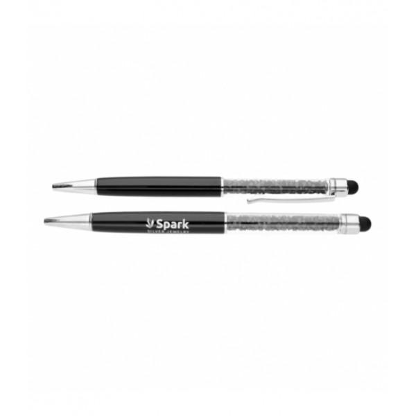 """Pildspalva """"Black Spark"""" ar Swarovski™ kristāliem"""
