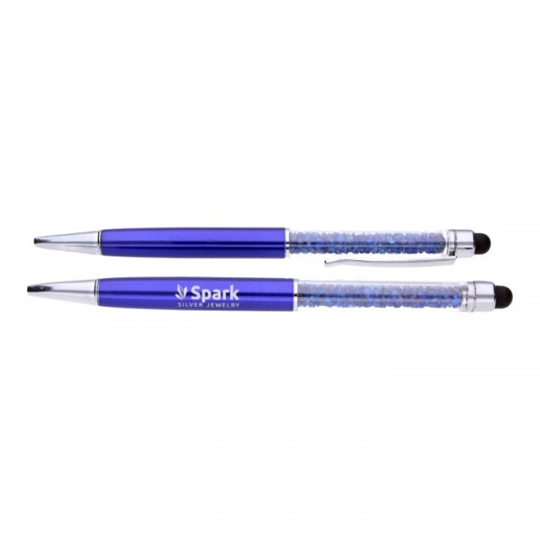 """Pildspalva """"Blue Spark"""" ar Swarovski™ kristāliem"""