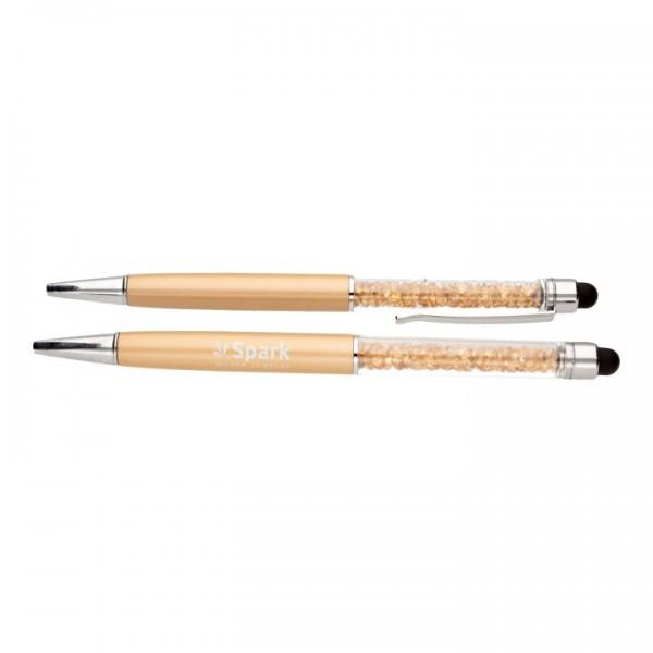 """Pildspalva """"Gold Spark"""" ar Swarovski™ kristāliem"""