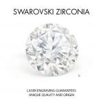 "Sudraba auskari ""Junona (Arctic Blue)"" ar Swarovski Zirconia Pure Brilliance kristāliem"