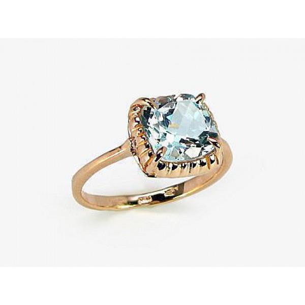 """Zelta gredzens ar topāzu """"Sicīlija"""" no 585 proves sarkanā zelta"""