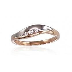 """Zelta gredzens """"Tokija XII"""" no 585 proves sarkanā zelta"""
