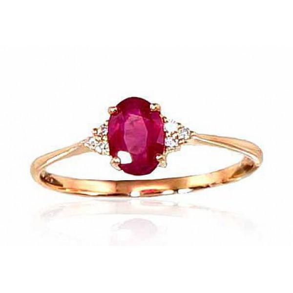 """Zelta gredzens ar briljantiem """"Izsmālcinātība VII"""" no 585 proves sarkanā zelta"""