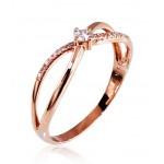 """Zelta gredzens ar briljantiem """"Konstance II"""" no 585 proves sarkanā zelta"""