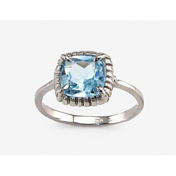 """Zelta gredzens ar topāzu """"Sicīlija"""" no 585 proves baltā zelta"""