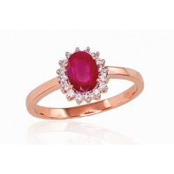 "Zelta gredzens ar briljantiem ""Ferro II"" no 585 proves sarkanā zelta"