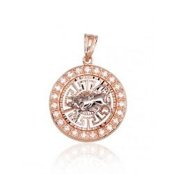 """Zelta kulons - zodiaka zīme """"Vērsis"""" no 585 proves sarkanā zelta"""