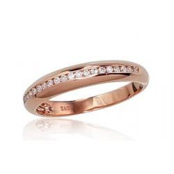 """Zelta gredzens ar briljantiem """"Tokija VI"""" no 585 proves sarkanā zelta"""
