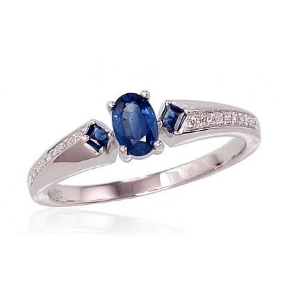 "Zelta gredzens ar briljantiem ""Misa"" no 585 proves baltā zelta"