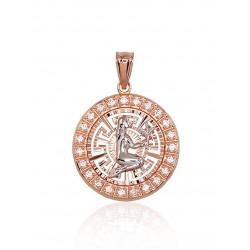 "Zelta kulons - zodiaka zīme ""Jaunava"" no 585 proves sarkanā zelta"