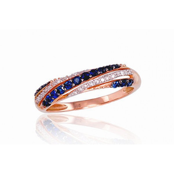 "Zelta gredzens ar briljantiem ""Roksana"" no 585 proves sarkanā zelta"