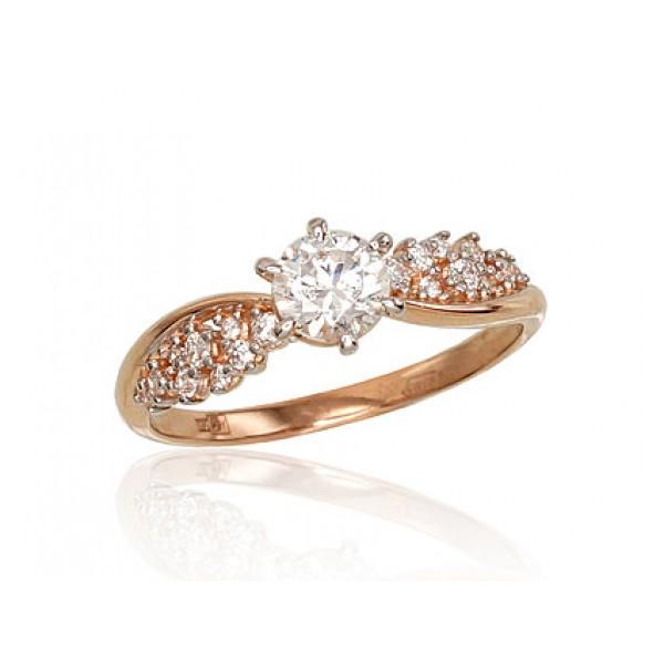 """Zelta gredzens """"Aleksa IV"""" no 585 proves sarkanā zelta"""
