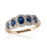 """Zelta gredzens ar briljantiem """"Dženija"""" no 585 proves sarkanā zelta"""