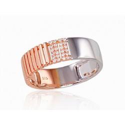 """Золотое кольцо с бриллиантами """"Eiropa"""" из красного золота 585 пробы"""