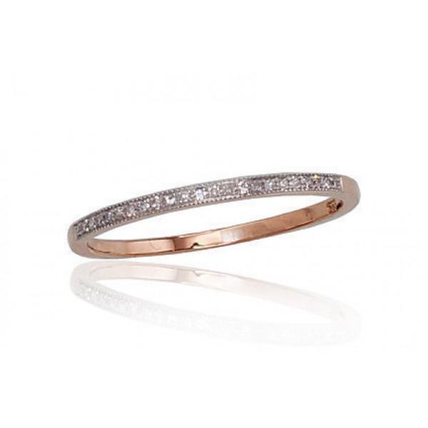 "Zelta gredzens ar briljantiem ""Babilona II"" no 585 proves sarkanā zelta"