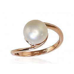 "Zelta gredzens ar pērlēm ""Galoss XI"" no 585 proves sarkanā zelta"